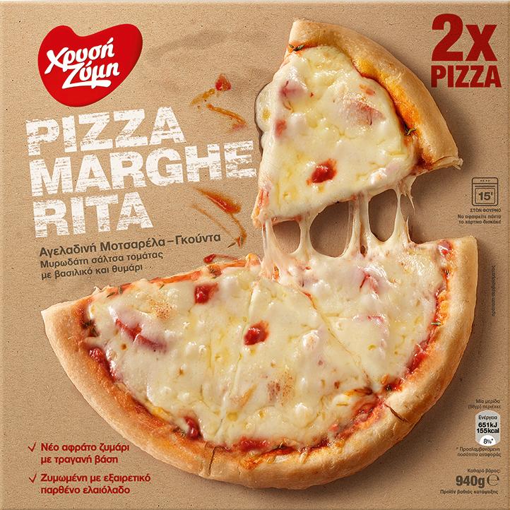 Pizza Margerita Χρυσή Ζύμη