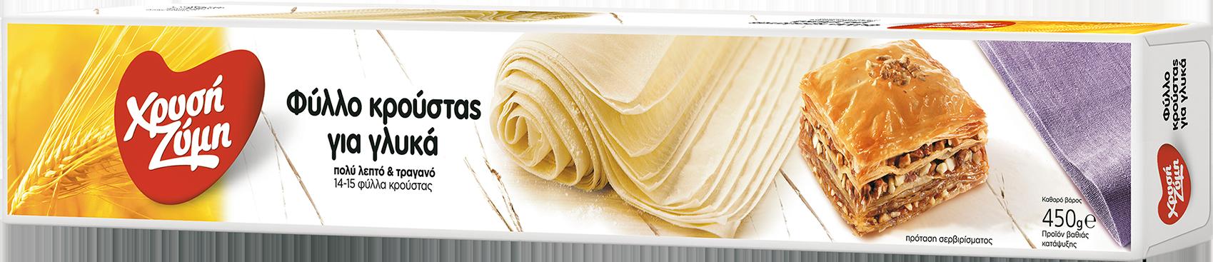 Γαλακτομπουρεκάκια με Σιρόπι Κανέλας με Φύλλο Κρούστας για Γλυκά Χρυσή Ζύμη