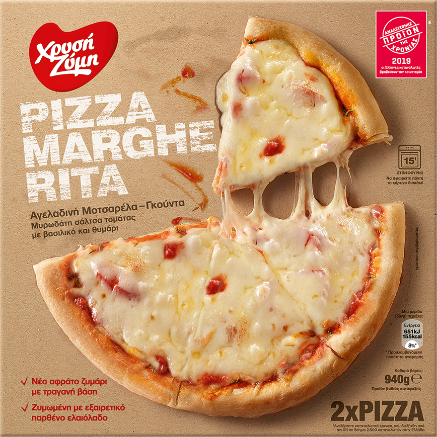Pizza Margherita Χρυσή Ζύμη