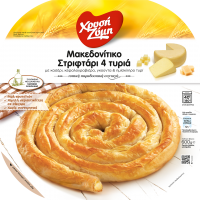 Μακεδονίτικο Στριφτάρι 4 Τυριά με κασέρι, κεφαλογραβιέρα, γκούντα και ημίσκληρο τυρί