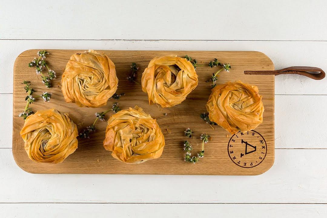 Μανιταροπιτάκια με Φύλλο Κρούστας για πίτες Χρυσή Ζύμη