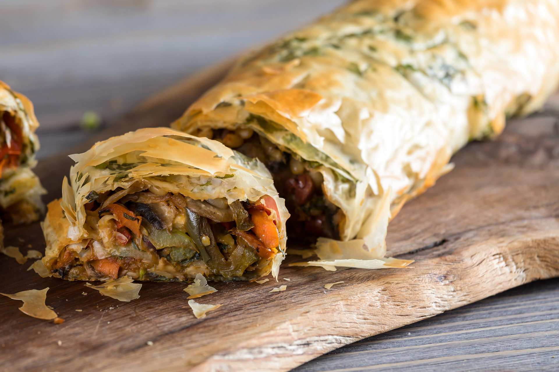 Στρούντελ Λαχανικών με Φύλλο Κρούστας για Πίτες από τον Άκη Πετρετζίκη