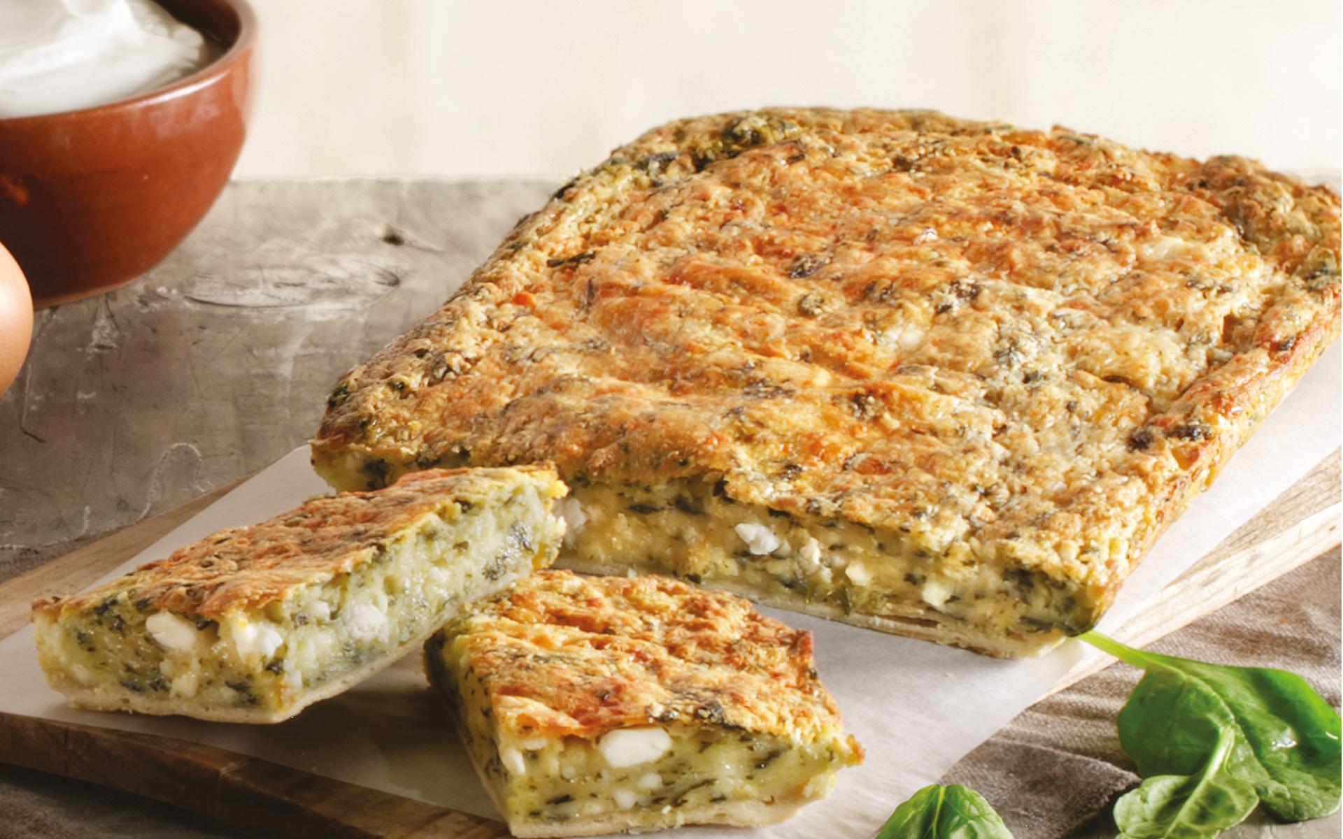 Μπατζίνα με Τυρί και Σπανάκι Χρυσή Ζύμη
