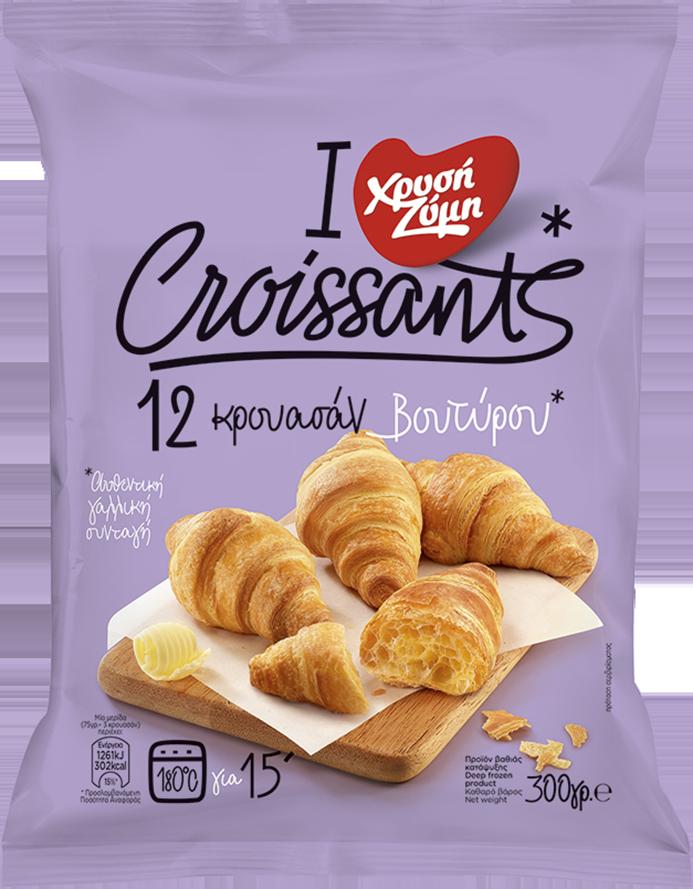 Croissants βουτύρου Χρυσή Ζύμη με Κρέμα Τιραμισού και Κακάο