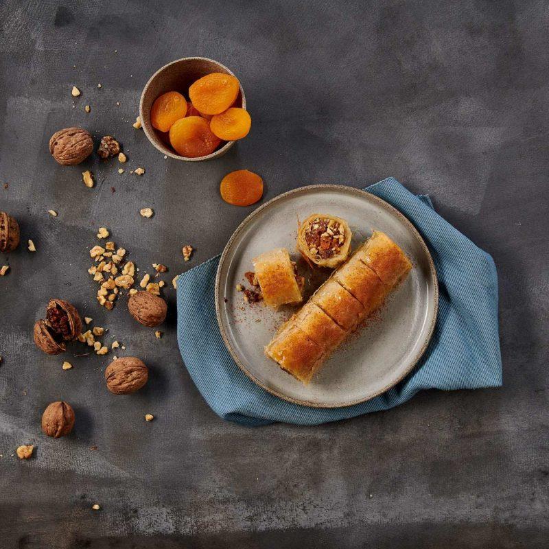 Μπακλαβάς με Καρύδια και Ξηρά Φρούτα με Φύλλο Κρούστας για γλυκά Χρυσή Ζύμη