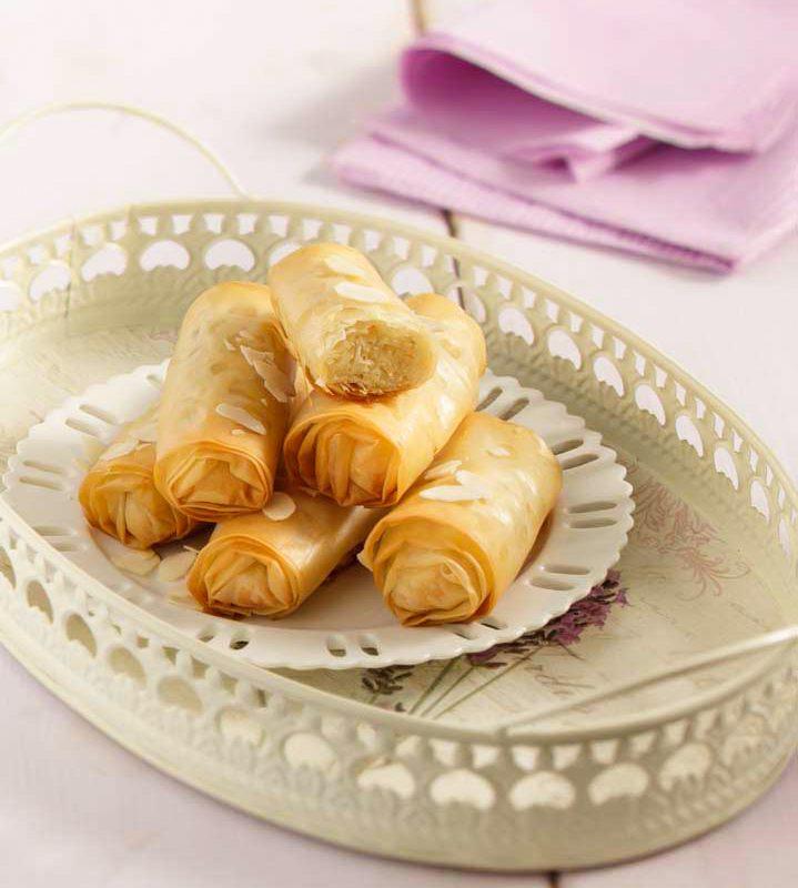 Αμυγδαλωτά Πιτάκια με Αμαρέτο με Φύλλο Κρούστας για Γλυκά Χρυσή Ζύμη