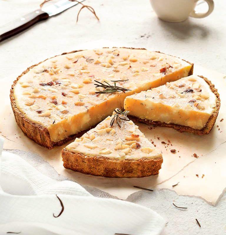 Τάρτα Λευκής Σοκολάτας με Δενδρολίβανο με Ζύμη Κουρού Χρυσή Ζύμη