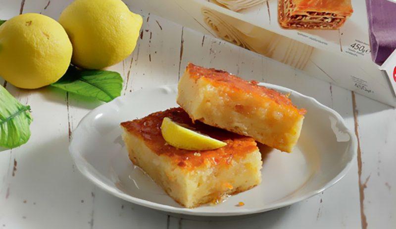 Σιροπιαστή Λεμονόπιτα με Φύλλο Κρούστας για Γλυκά Χρυσή Ζύμη